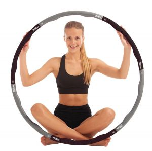just be Black and Grey Weighted Fitness Hoop 2.10kg