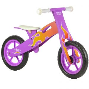 boppi® Wooden Balance Training Bike - Purple Flame