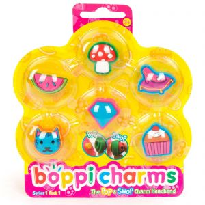 boppiband boppi charms pack series 1 pack 1 - 6 Charms Packaged