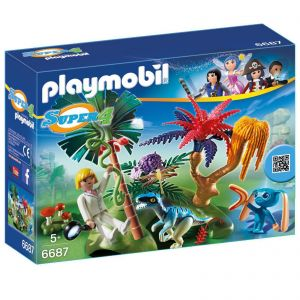 Playmobil 6687 Super 4 - Lost Island with Alien and Raptor 6687