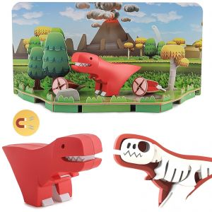 Halftoys Magnetic 3D Dino Jigsaw Puzzle - T-Rex