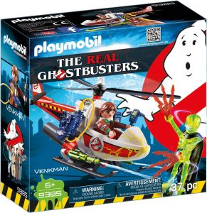 Playmobil 9385 The Real Ghostbusters - Venkman with Helicopter box