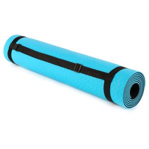 just be... Yoga Mat Blue/Black 5mm eco friendly TPE