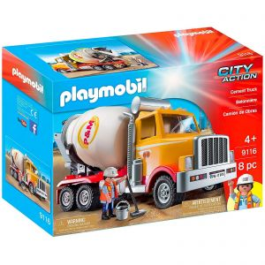 Playmobil Cement Truck Construction Lorry Vehicle - City Action 9116