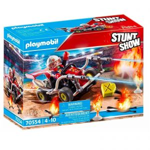 Playmobil Fire Quad Kart Car - Stunt Show 70554