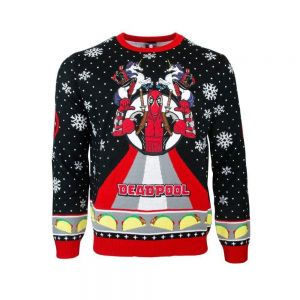Marvel Deadpool Unicorn Christmas Jumper / Ugly Sweater UK M / US S