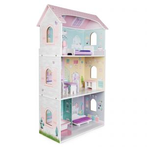 boppi Wooden Dolls House with 8 Play Accessories