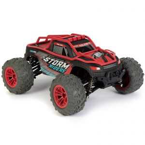 bopster RC 4 Wheel Drive 1:14 Scale 36 km/h Remote Radio Control Monster Truck Off-Road All Terrain Buggy Car - Red