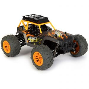 bopster RC 4 Wheel Drive 1:14 Scale 36 km/h Remote Radio Control Monster Truck Off-Road All Terrain Buggy Car - Yellow