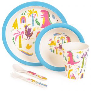Children's 5-Piece Bamboo Dinnerware Set by boppi