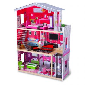 boppi Wooden Dolls House with Lift - 4118