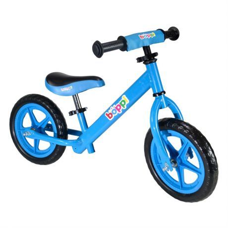 boppi Blue Metal Balance Bike bopster