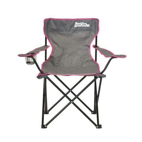 just be Grey Foldable Camping Chair