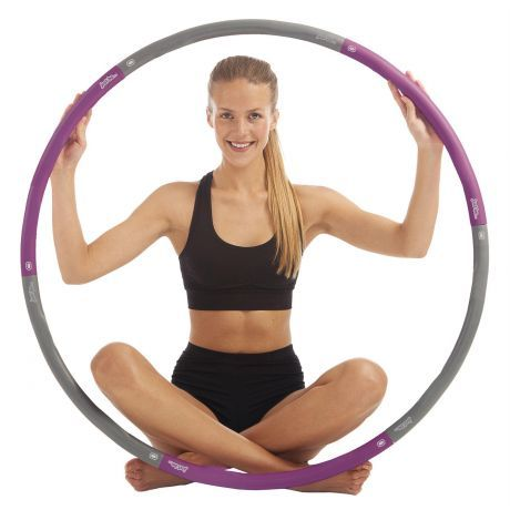 Just Be Purple 1.4kg Fitness Hula Hoop Purple 1.4kg
