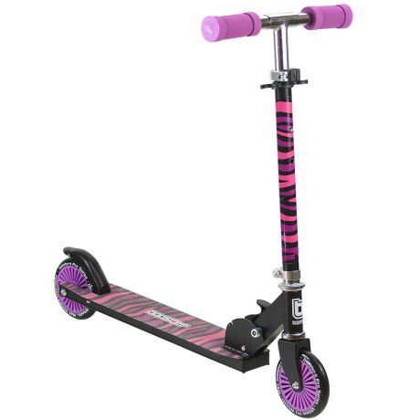 bopster-2-wheeled-folding-scooter-purple-zebra-front