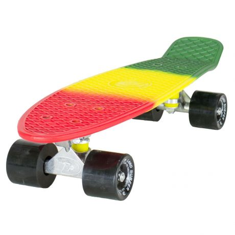 Land Surfer Cruiser Rasta Skateboard Green Yellow Red Black Wheels