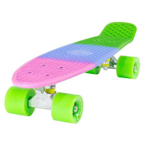 Land Surfer Cruiser 3 Tone Skateboard Green Wheels