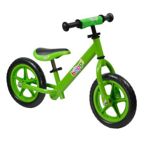 boppi Green Metal Balance Bike bopster