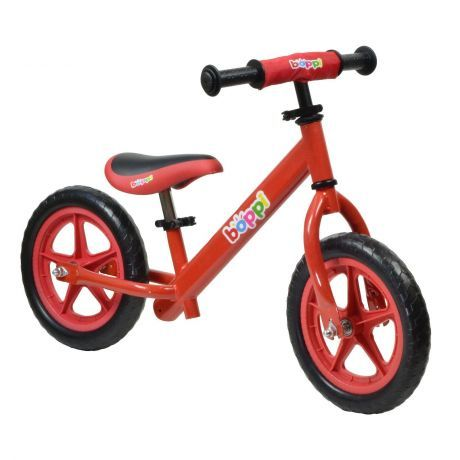 boppi Red Metal Balance Bike bopster