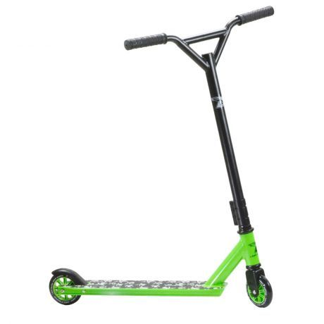 Land Surfer Stunt Scooter Green Base With Skull