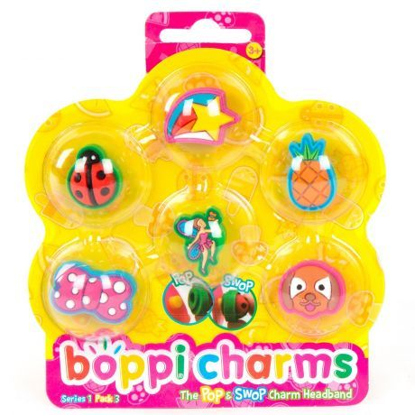 boppiband boppi Charms Pack Series 1 pack 3 - 6 Charms Packaged