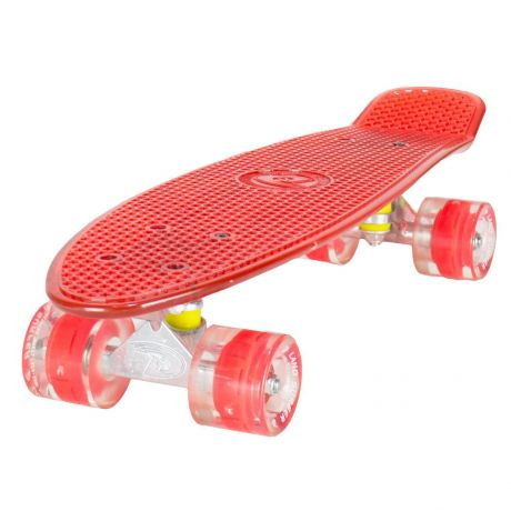 Land Surfer Cruiser Clear Red Skateboard LED Red Wheels