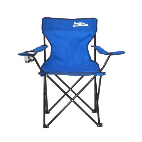 just be Royal Blue Foldable Camping Chair Dark Blue Trim