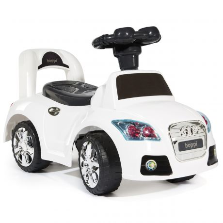 boppi Ride on Kids Sports Car White