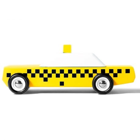 Candylab – Wooden Toy Junior New York Taxi Cab Yellow Vehicle
