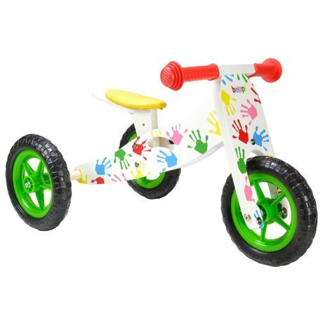 boppi Trike and Bike 2 in 1 Ride On handprint design for toddlers