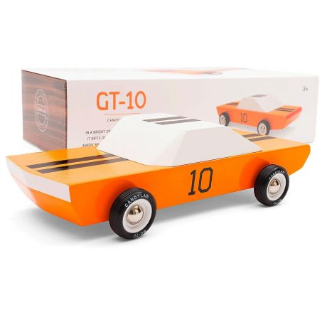 Candylab – Wooden Toy Racing Model GT10 Orange Sports Vehicle - with box