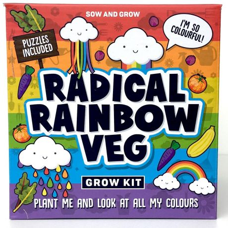 Sow and Grow - Radical Rainbow Veg Planting Starter Set
