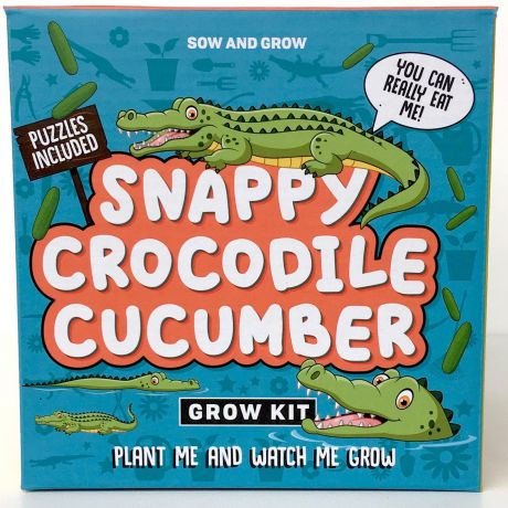 Sow and Grow - Snappy Crocodile Cucumbers Planting Starter Set