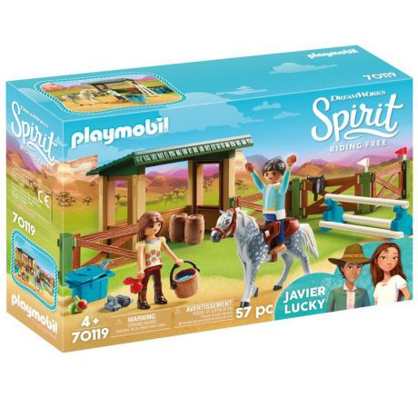 Playmobil 70119 Dreamworks Spirit - Riding Arena with Lucky & Javier
