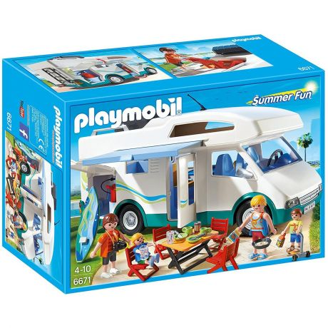 Playmobil 6671 Summer Fun Family Camper Vehicle Play Set