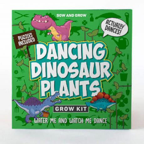 Sow and Grow - Dancing Dinosaur Plants Planting Starter Set