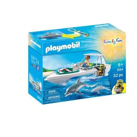 Playmobil 9164 Family Fun - Diving Trip box, boat with dolphins