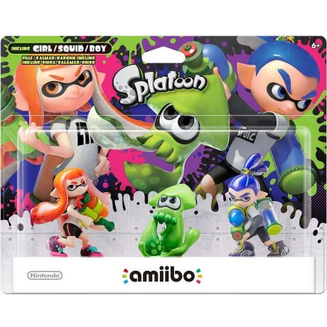 Amiibo Splatoon Series 3-Pack (Girl Orange), (Squid Green), (Boy Blue)
