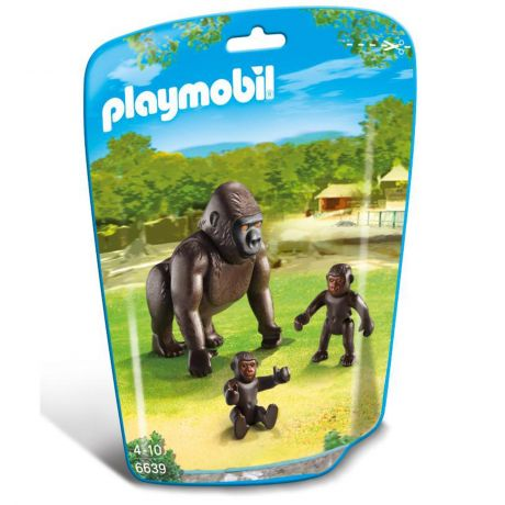 Playmobil 6639 - Gorilla with Babies Pack