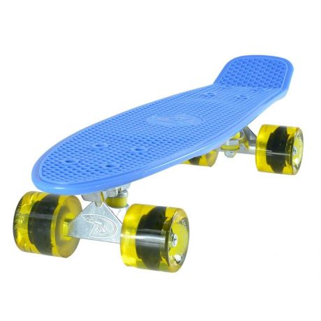 Land Surfer Cruiser Blue Skateboard Transparent Yellow Wheels