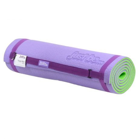 just be Purple and Green Non Slip Yoga Mat