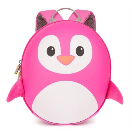 boppi Tiny Trekker Backpack - Pink Penguin - front view