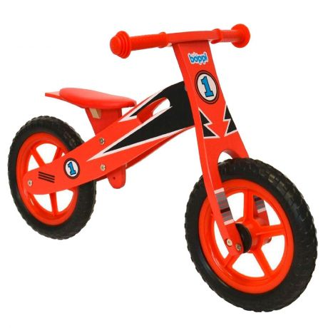 boppi Red Racer Kids Wooden Balance Bike by bopster