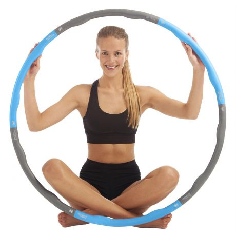 just be... fitness weighted hula hoop exercise yoga pilates bikram workout healthy blue