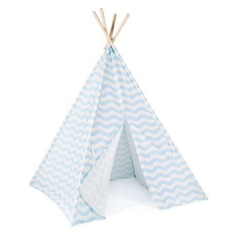 boppi teepee tent blue outside
