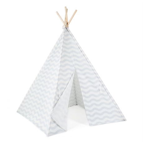 boppi Kids Teepee Play Tent Grey Wave