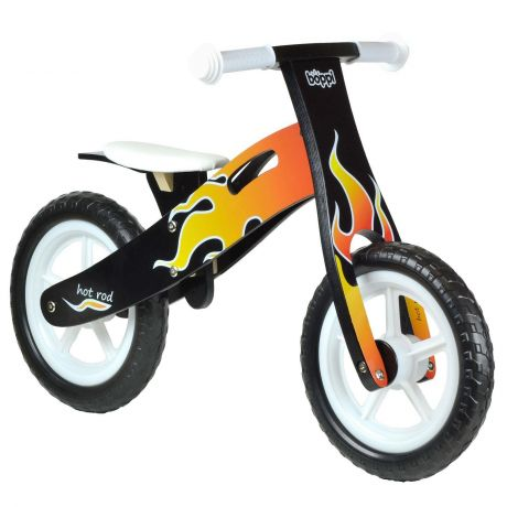 boppi Flame Pattern Wooden Balance Bike