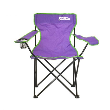 just be Purple Foldable Camping Chair