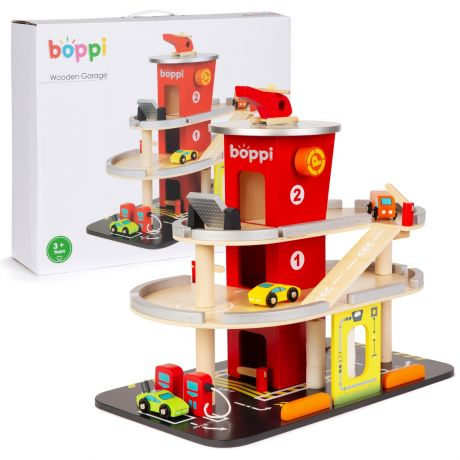 boppi Wooden Toy Garage with Carwash
