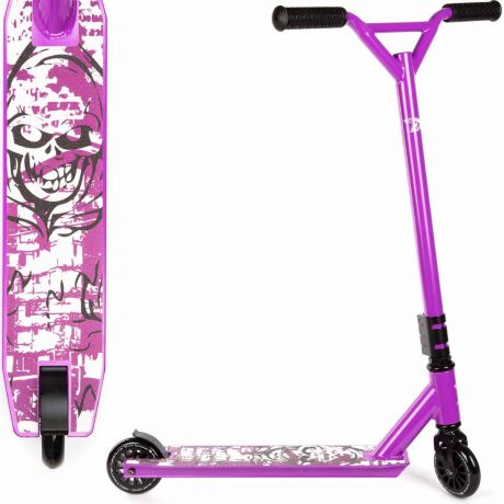 Land Surfer Girls Stunt Scooter by bopster® - Purple Skull